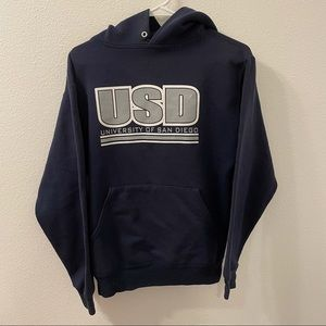 University of San Diego pullover hoodie blue small